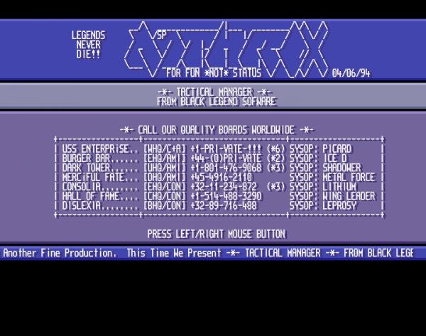 Blueboxing, Whiteboxing, phreaking et BBS, Ascii